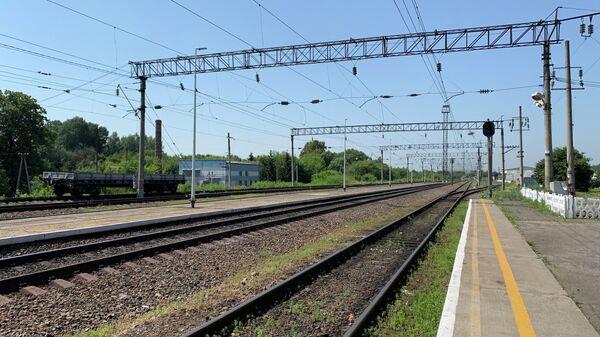 Железная дорога в селе Долгоруково