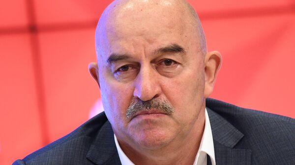 Пресс-конференция главного тренера сборной России по футболу Станислава Черчесова