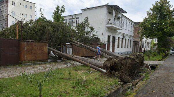 Последствия урагана в Сухуме, Абхазия