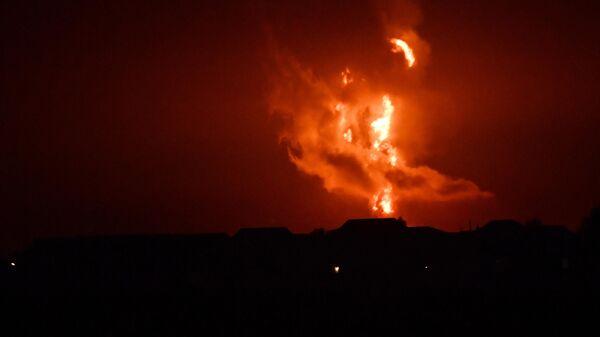 Взрыв и пожар в азербайджанском секторе Каспийского моря