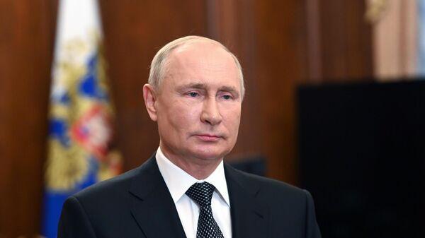 Президент РФ Владимир Путин во время с приветствия участников конференции руководителей прокуратур европейских государств