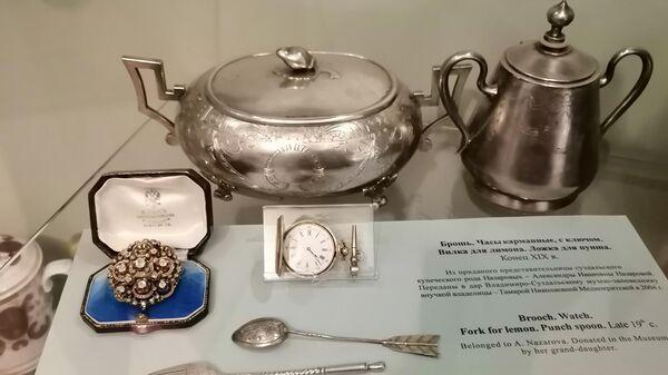 Экспонаты выставки в Архиерейских палатах в Суздальском кремле
