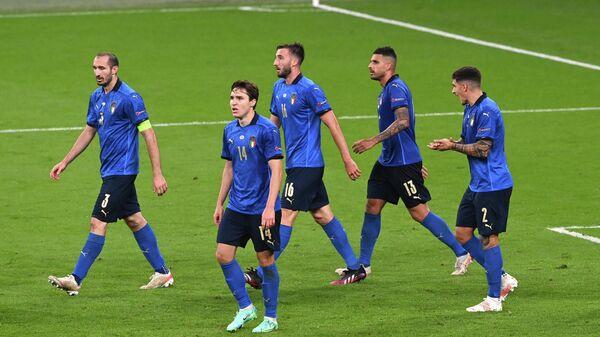 Сборная Италии в матче с командой Англии в финале ЕВРО-2020