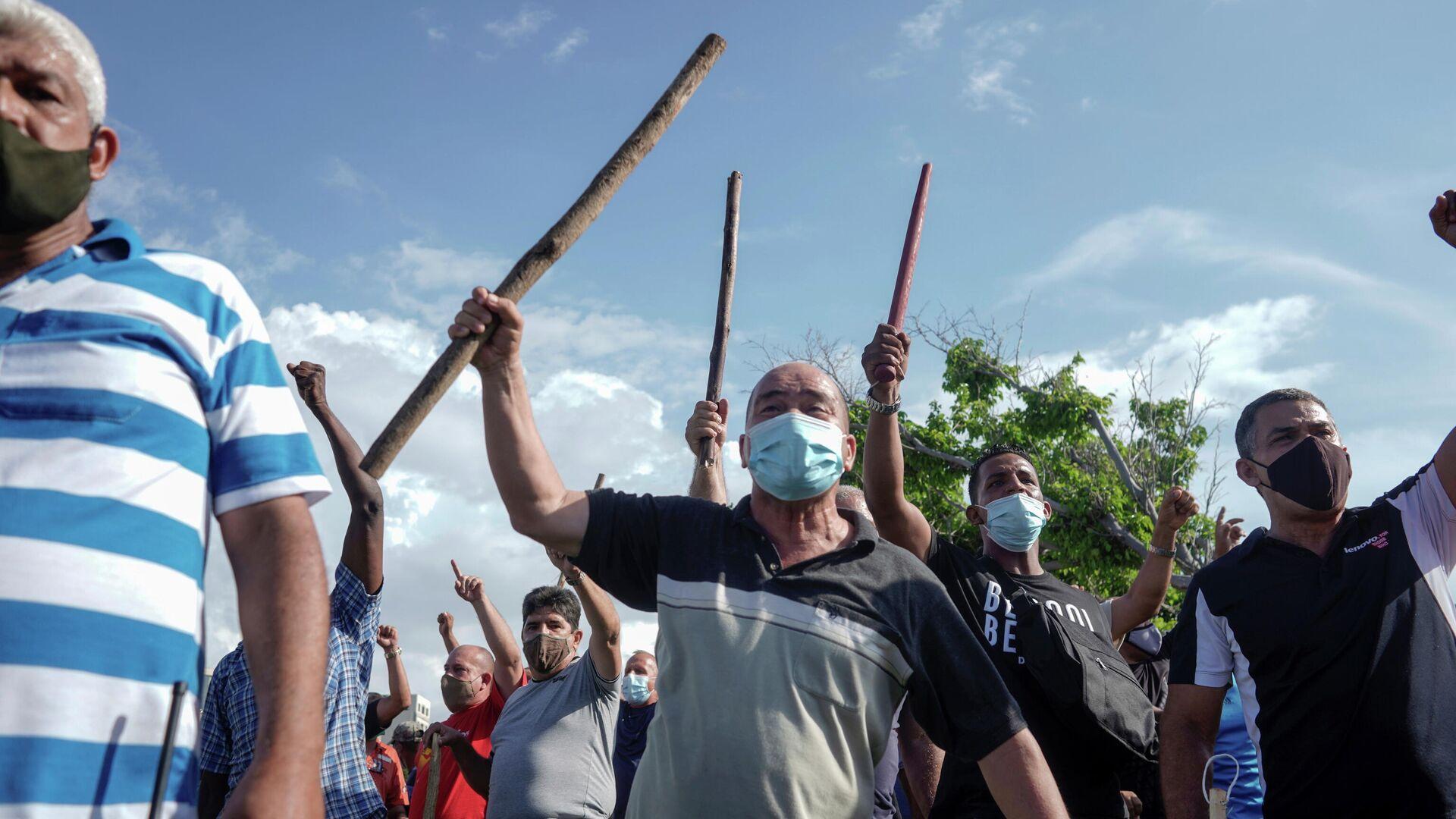 Акция протеста в Гаване - РИА Новости, 1920, 19.07.2021