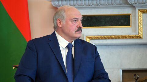Президент Белоруссии Александр Лукашенко во время встречи с президентом РФ Владимиром Путиным