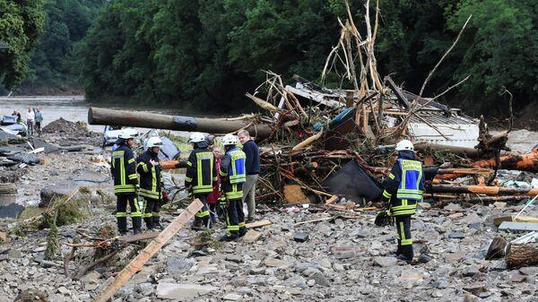 Последствия сильных дождей в Шульде, Германия