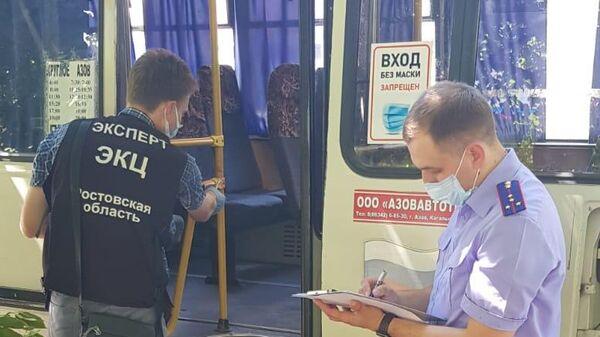 Нападение в рейсовом автобусе Азов-Круглое в Ростовской области