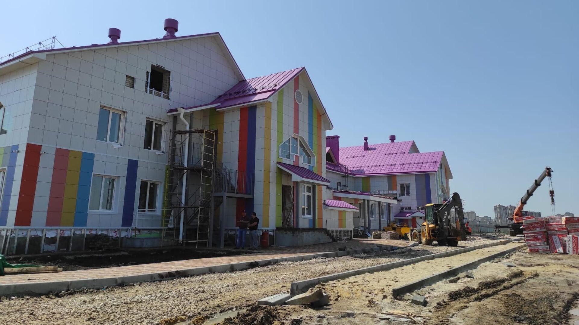 Стройплощадка детского сада Акварелька в Тамбовской области - РИА Новости, 1920, 20.07.2021