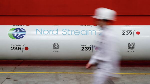 Труба газопровода Северный поток - 2