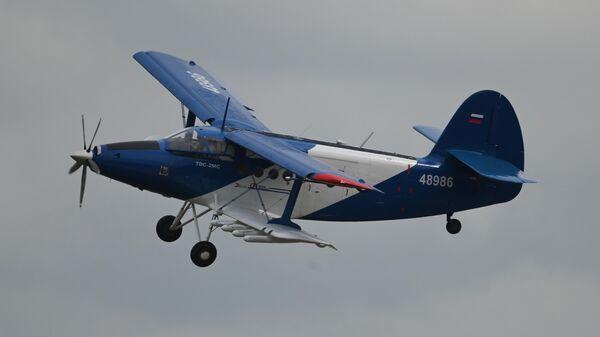 Самолет короткого взлета и посадки ТВС-2МС Партизан участвует в летной программе МАКС-2021