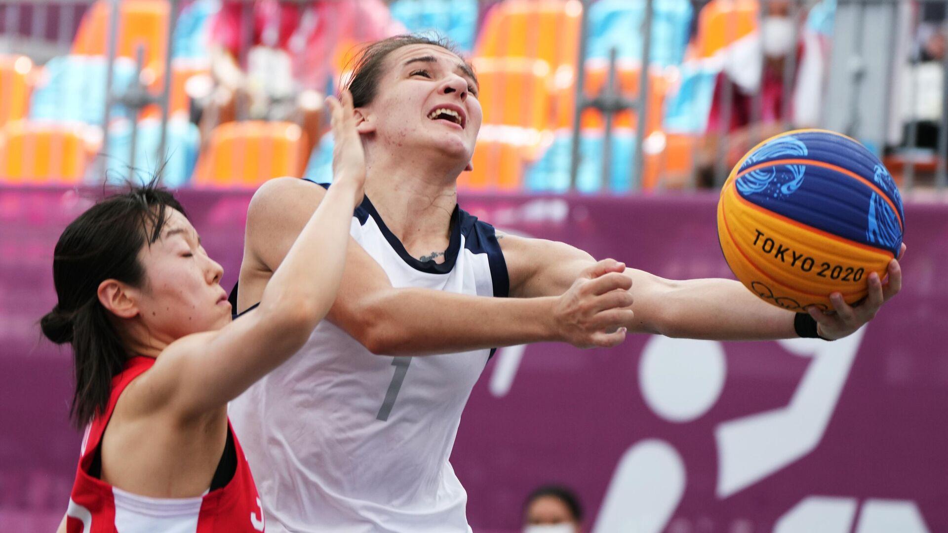 Олимпиада-2020. Баскетбол 3х3. Женщины. Матч Россия - Япония - РИА Новости, 1920, 24.07.2021