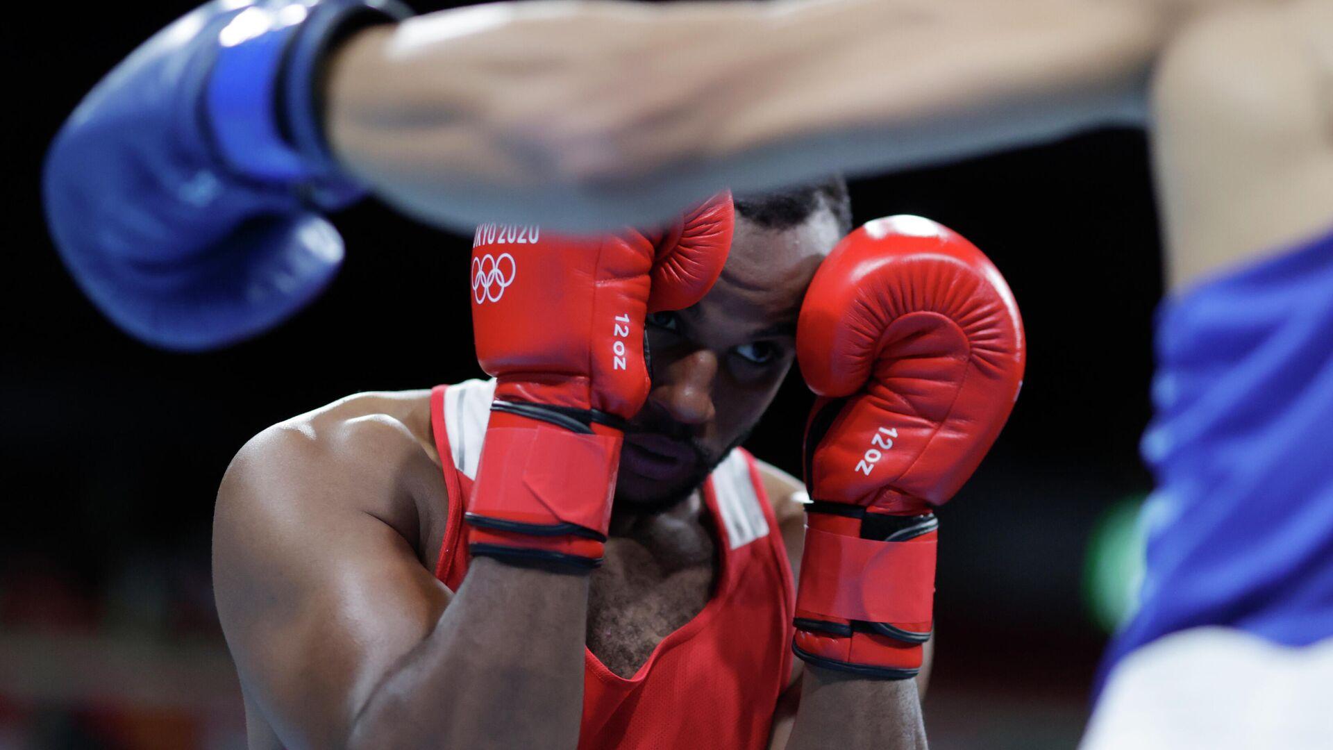 Марокканский боксер Юнес Баала на Олимпиаде в Токио - РИА Новости, 1920, 27.07.2021