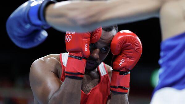 Марокканский боксер Юнес Баала на Олимпиаде в Токио