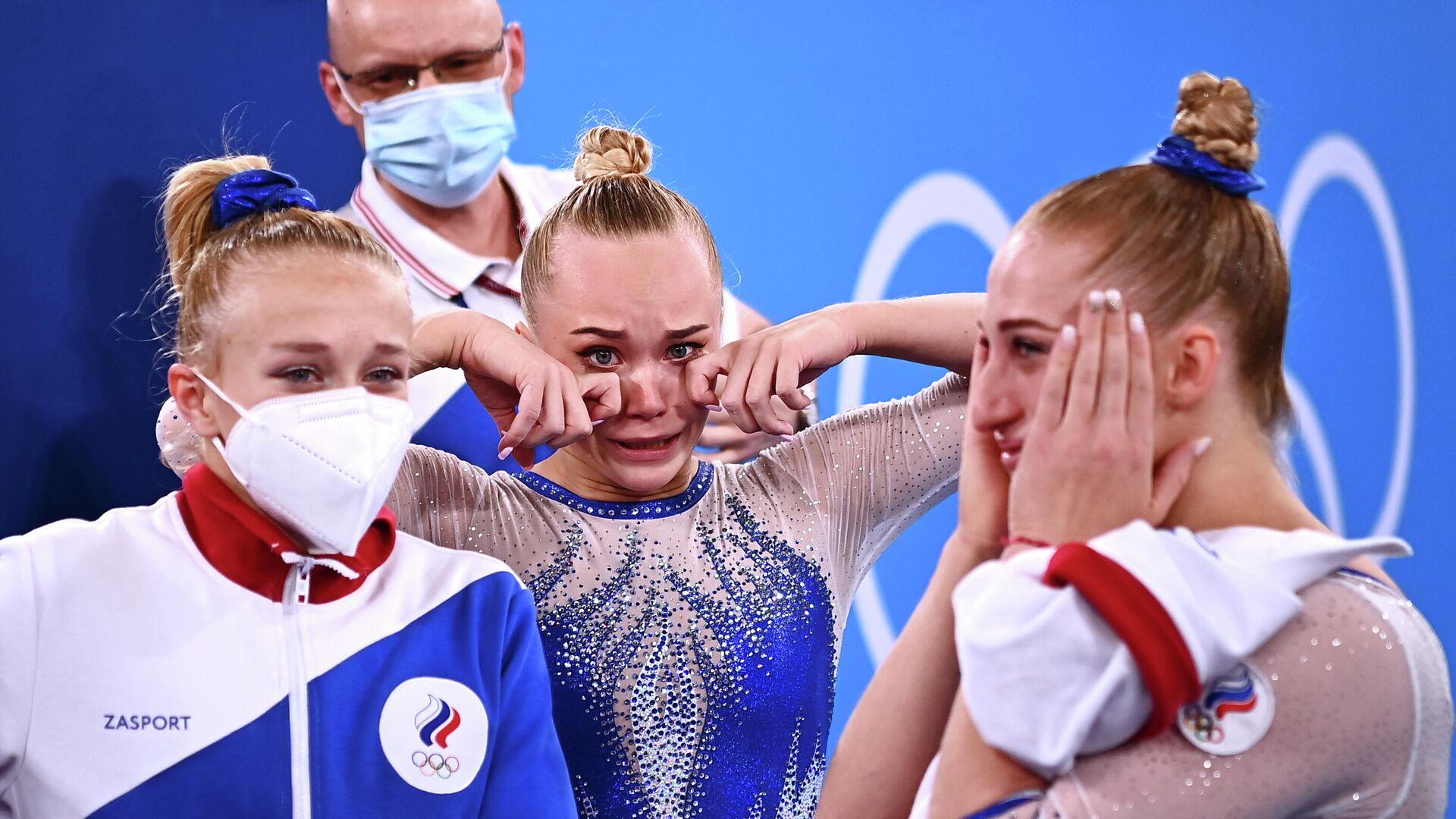 Российские гимнастки после победы в командном турнире - РИА Новости, 1920, 27.07.2021
