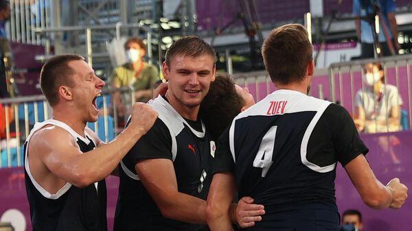 Мужская сборная России по баскетболу 3х3 Илья Карпенков, Кирилл Писклов и Александр Зуев