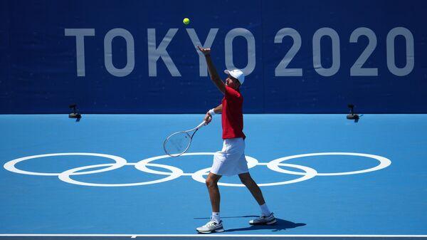 Даниил Медведев на Олимпиаде в Токио