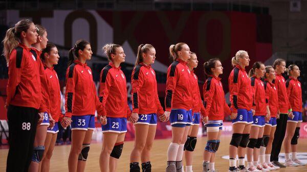 Гандболистки сборной России на Олимпийских играх в Токио