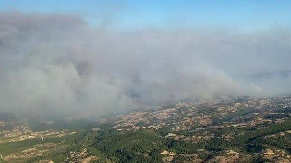 Дым от лесных пожаров в Турции