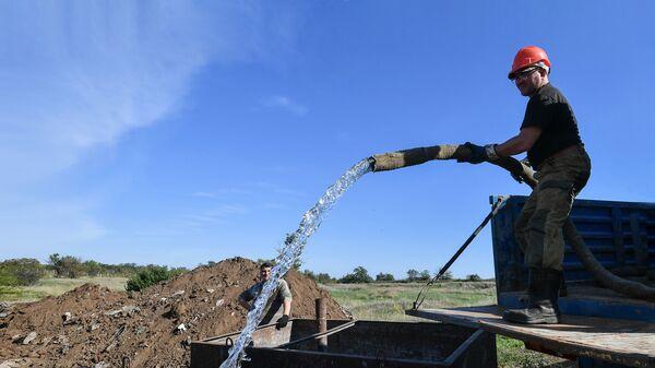 Работы по бурению новых скважин для водообеспечения в Крыму