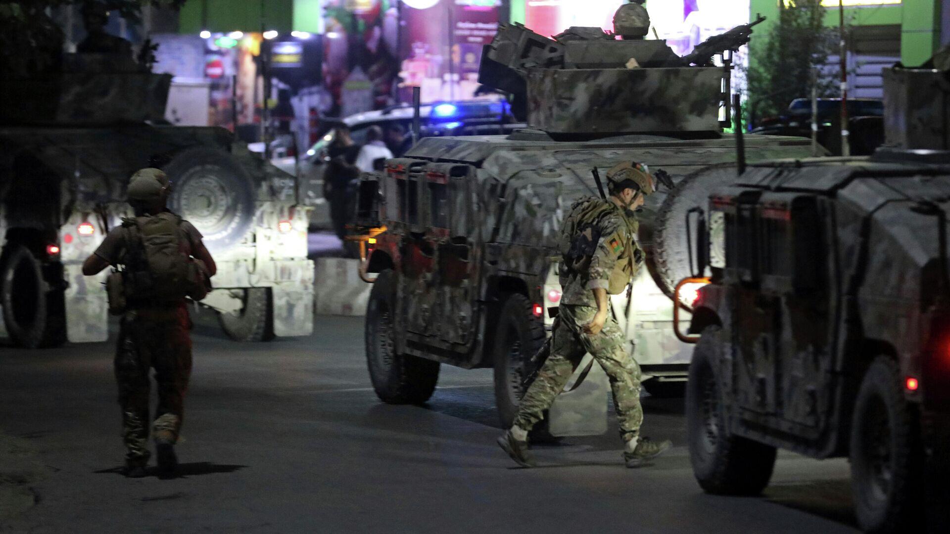 Афганские службы безопасности на месте взрыва в Кабуле - РИА Новости, 1920, 03.08.2021