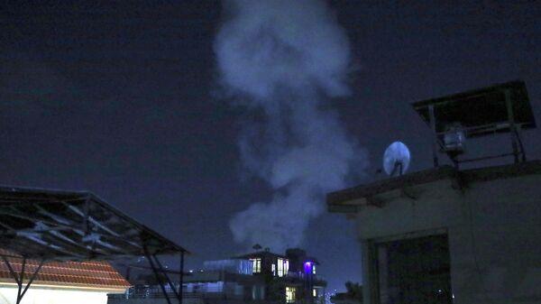 Дым от мощного взрыва в Кабуле