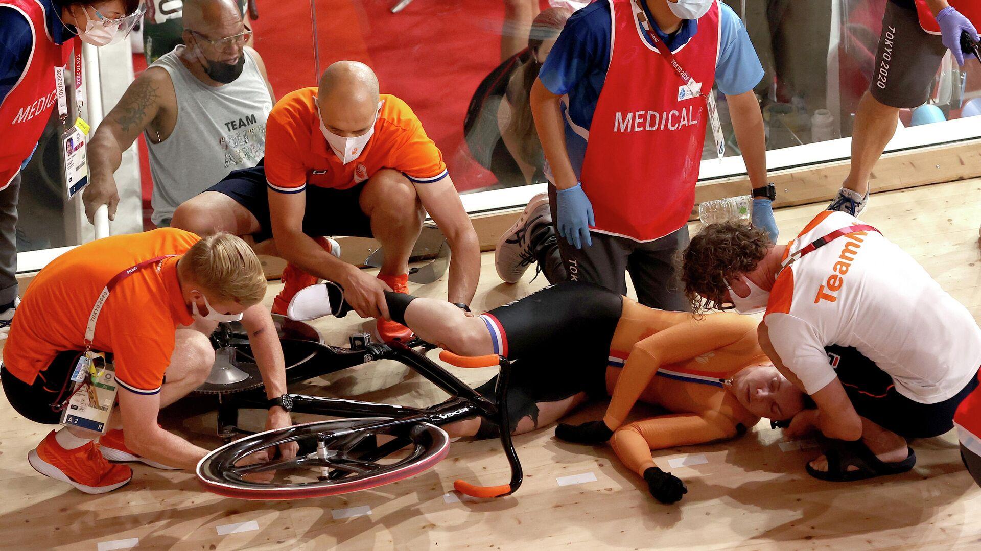 Нидерландская велогонщица Лорин ван Риссен - РИА Новости, 1920, 05.08.2021