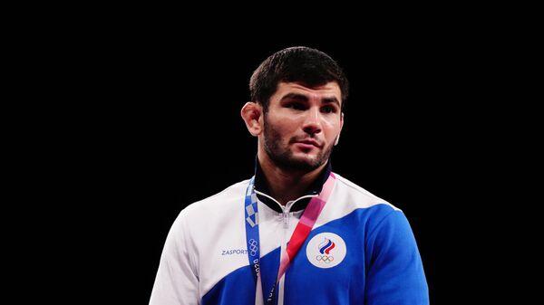 Российский спортсмен, член сборной России (команда ОКР) Артур Найфонов, завоевавший бронзовую медаль на соревнованиях по вольной борьбе среди мужчин в весовой категории до 86 кг на XXXII летних Олимпийских играх.