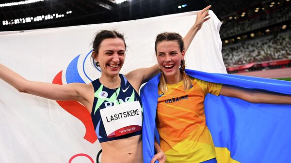 Российская прыгунья в высоту Мария Ласицкене и украинка Ярослава Магучих