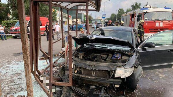 Водитель, который въехал в остановку в Москве и сбил двух женщин, был пьян