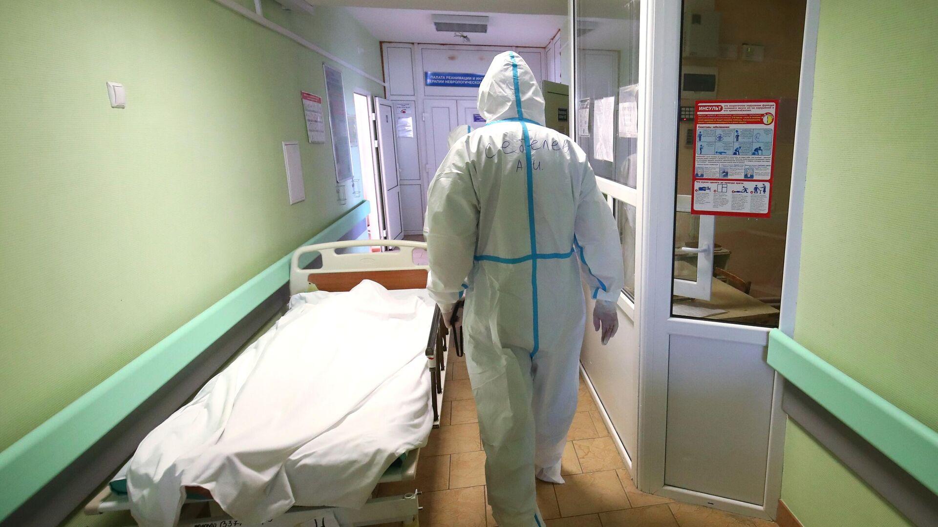 Медицинский работник в клинической больнице скорой помощи №15 в Волгограде - РИА Новости, 1920, 24.09.2021