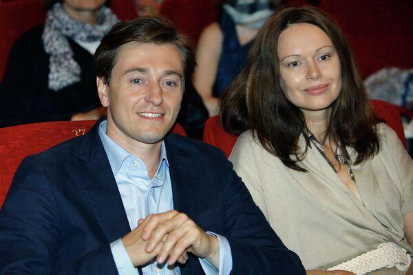 Актер Сергей Безруков с супругой актрисой Ириной Безруковой