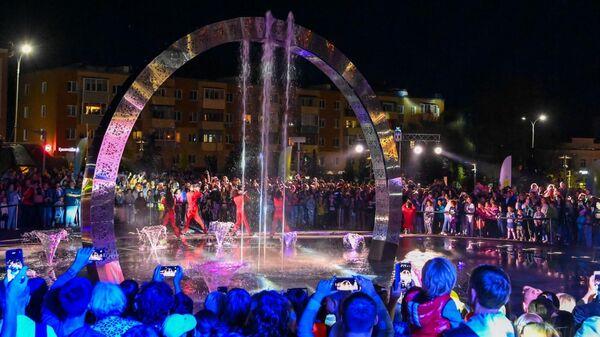 В Калуге в честь 650-летия города открыли мультимедийный фонтан