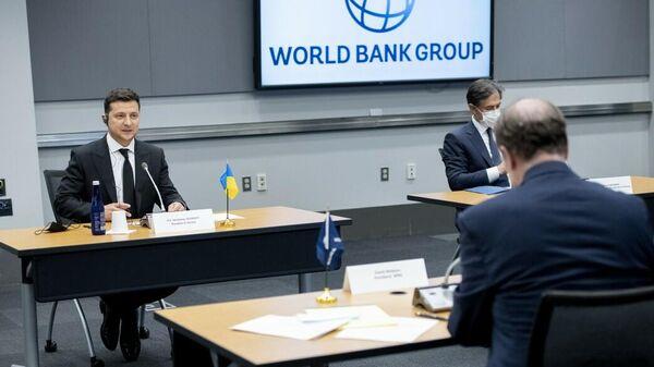 Президент Украины Владимир Зеленский во время визита в США