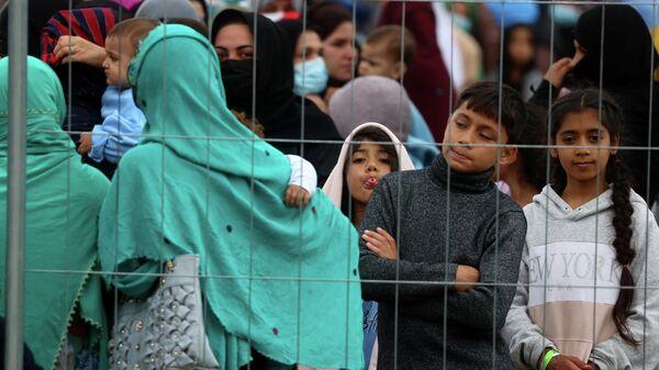 Беженцы из Афганистана, эвакуированные в город Кайзерслаутерн, Германия