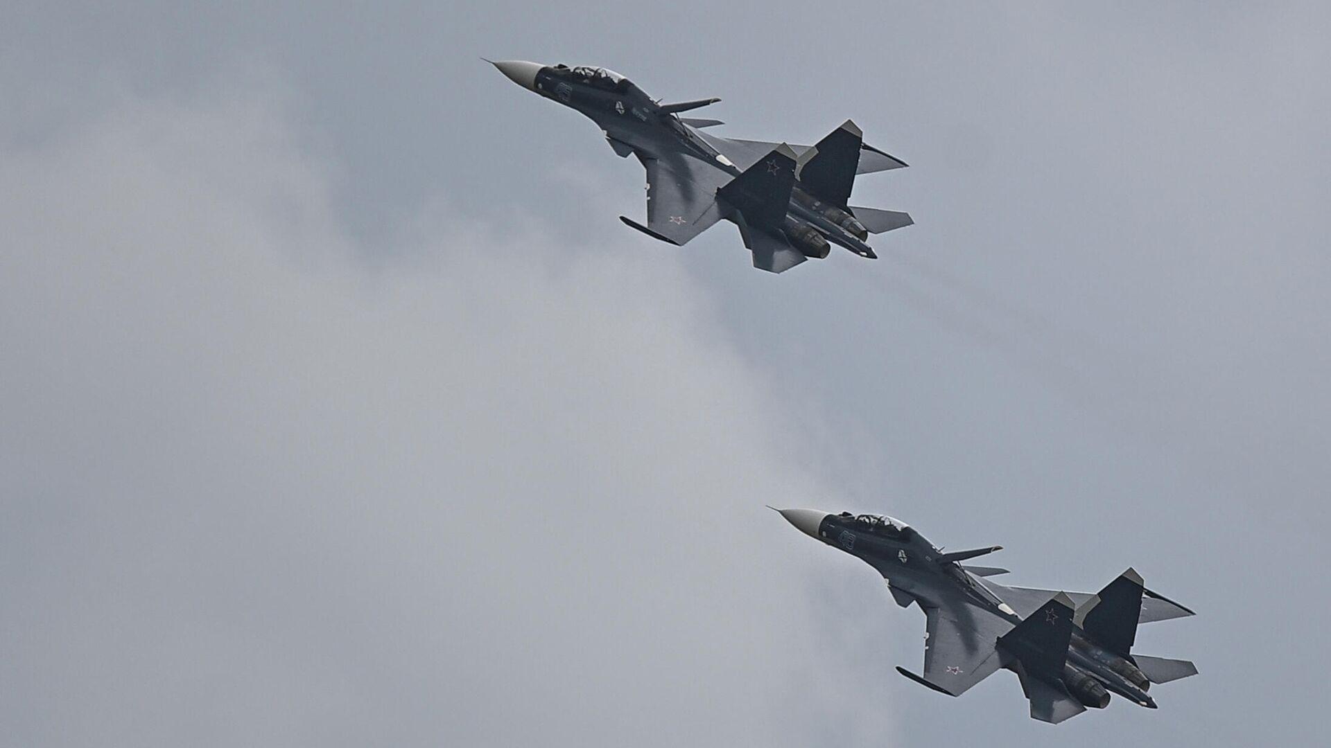 Истребители Су-30СМ  - РИА Новости, 1920, 10.09.2021