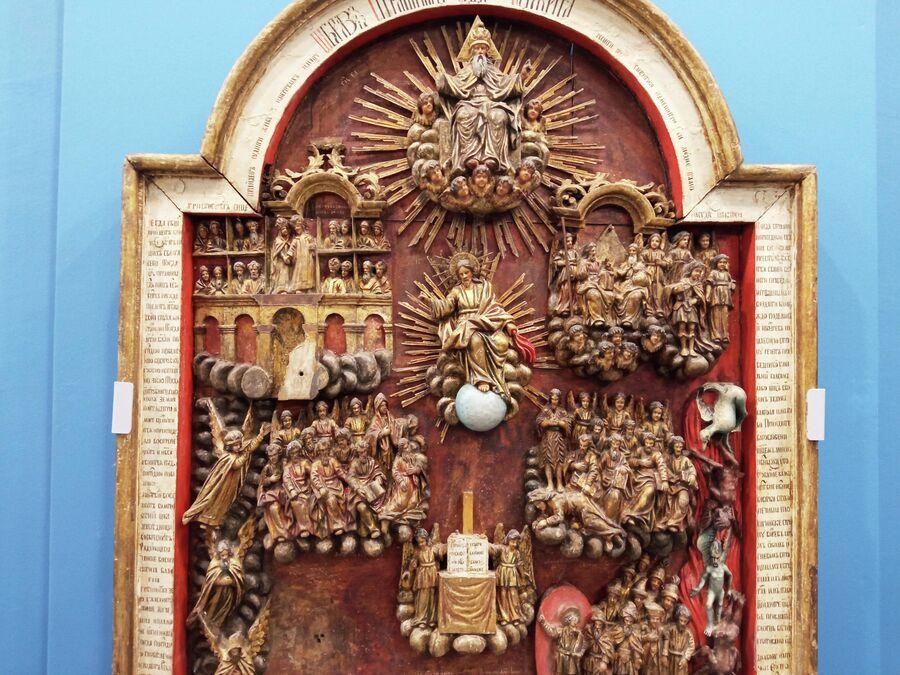 Романовский музей, резная икона