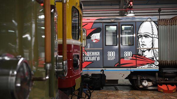 Запуск тематического поезда, посвященного 800-летию со дня рождения князя Александра Невского