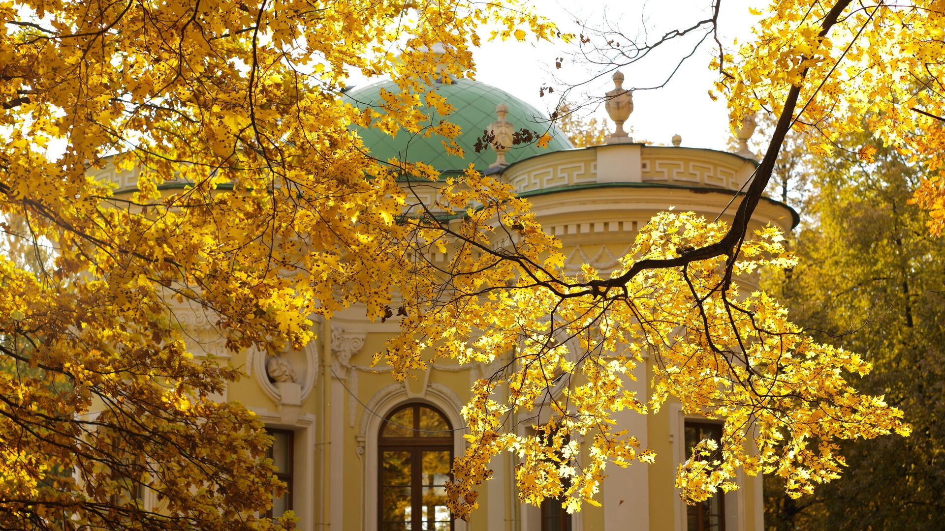 Золотая осень в Кусково - РИА Новости, 1920, 14.09.2021
