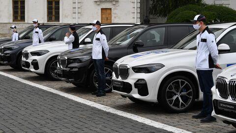 Вручение ключей от автомобилей победителям летней Олимпиады-2020 в Токио