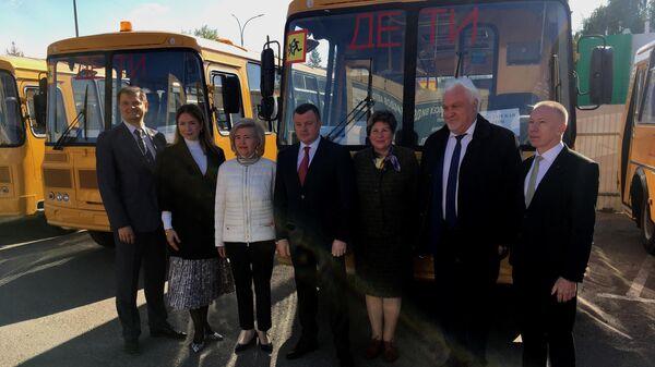 Обновление парка школьных автобусов в Тамбовской области