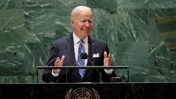 Президент США Джо Байден выступает на сессии Генеральной Ассамблеи ООН в Нью-Йорке