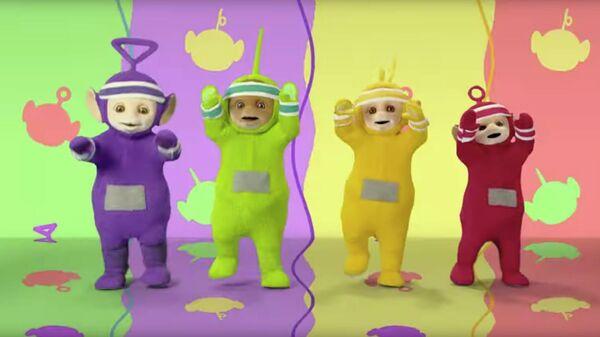 Скриншот видеоклипа с Телепузиками