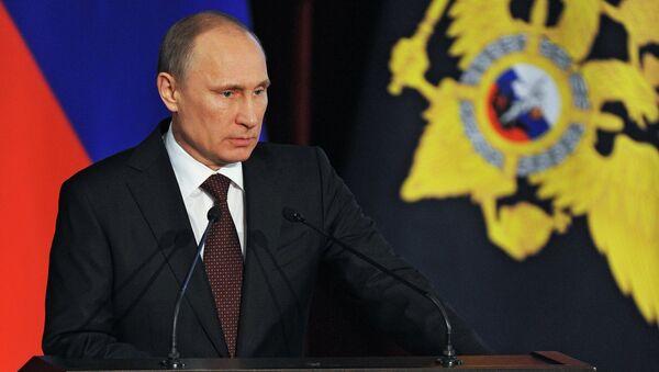 В.Путин на коллегии МВД РФ. Фото с места события
