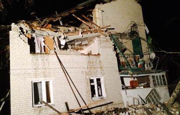 На месте взрыва газа в доме в городе Росошь Воронежской области