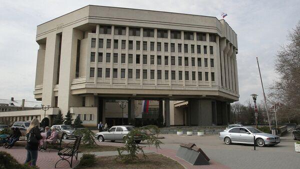 Здание Государственного Совета Крыма в Симферополе. Архивное фото