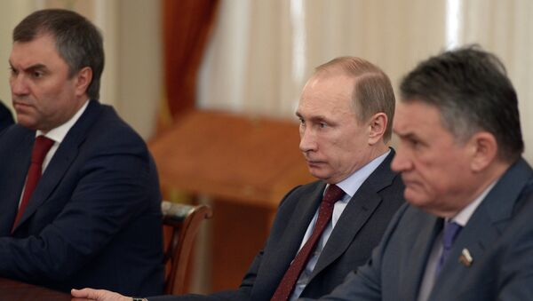 В.Путин провел встречу с членами Совета палаты Совета Федерации. Фото с места события