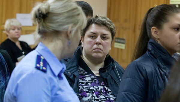 Александра Апатченко на суде над Николаем Ковалевичем, предполагаемым убийцей ее дочери