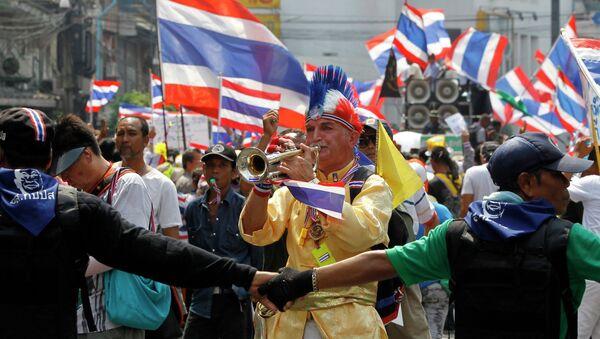 Демонстранты в Бангкоке. Архивное фото