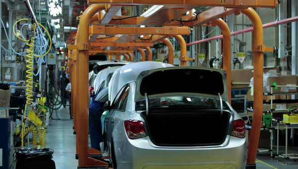 Завод General Motors в Санкт-Петербурге, архивное фото