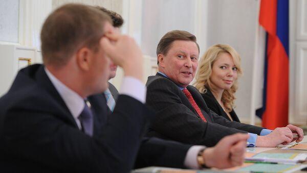Сергей Иванов во время встречи с журналистами в Кремле. Фото с места события